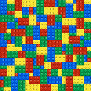 Background Of Plastic Building Blocks