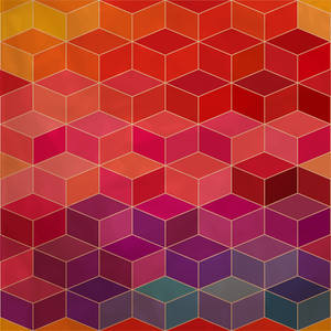 Background Of Repeating Geometric Rhombs