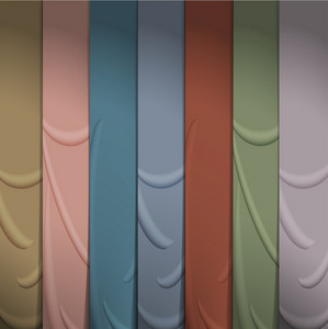 Background Of Silk Ribbons