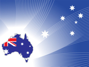 Background With Australia Map