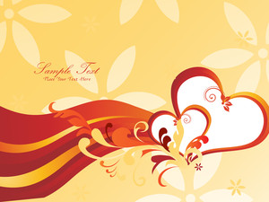 Background With Beautiful Heart