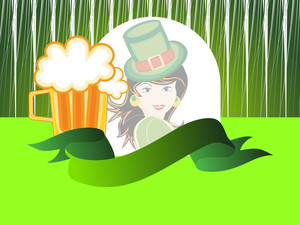 Background With Beer Mug