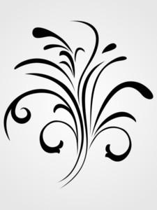 Background With Black Floral Design