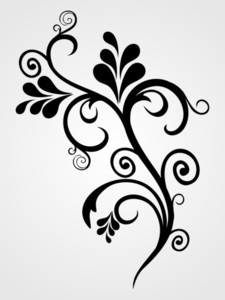 Background With Black Tattoo