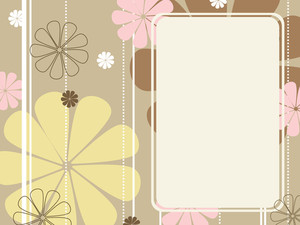 Background With Blossom Pattern Banner
