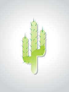 Background With Cactus Tree