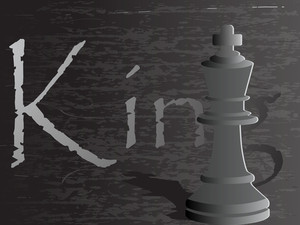 Background With Chess Figure