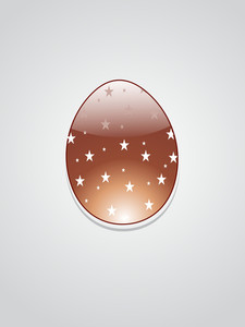 Background With Chocolate Easter Egg Illustration