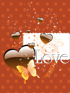 Background With Chocolate Heart