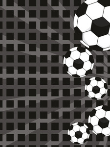 Background With Collection Of Footballs