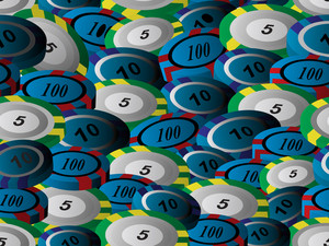 Background With Collection Of Poker Chips