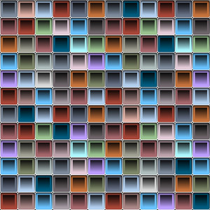 Background With Colorful Blocks Structure