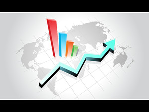 Background With Colorful Business Graph