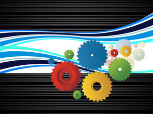 Background With Colorful Cogwheel
