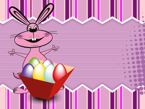Background With Colorful Egg Box