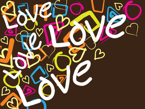 Background With Colorful Heart And Graphic Shape