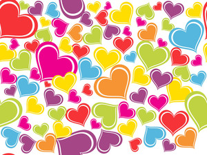 Background With Colorful Heart