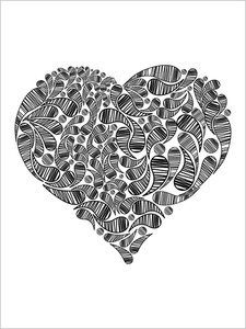 Background With Creative Design Black Heart