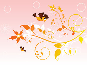 Background With Curve Floral