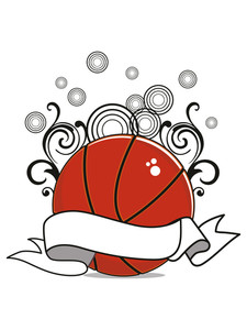 Background With Decorated Basketball