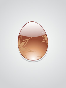 Background With Decorated Egg