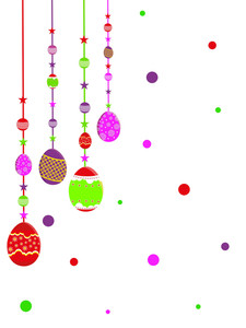 Background With Decorated Hanging Egg