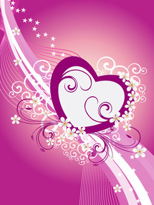 Background With Decorated Heart