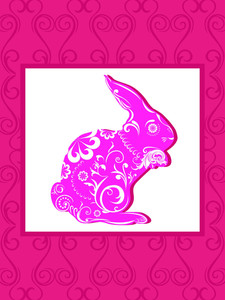 Background With Decorated Rabbit