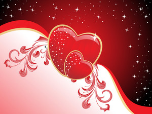 Background With Decorated Romantic Heart