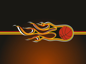 Background With Fiery Basketball