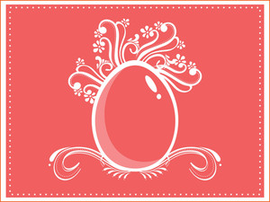 Background With Floral Decorated Egg