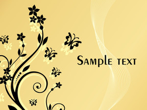 Background With Floral Elements