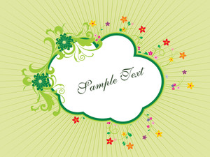 Background With Floral Frame