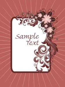 Background With Floral Pattern Frame
