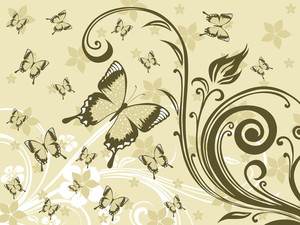 Background With Floral