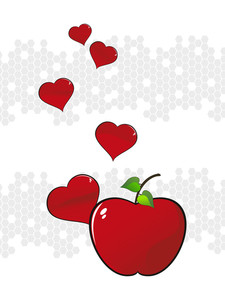 Background With Fresh Red Apple