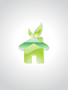 Background With Green Ecology Home