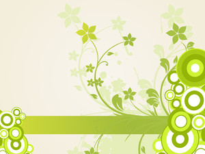 Background With Green Floral Pattern