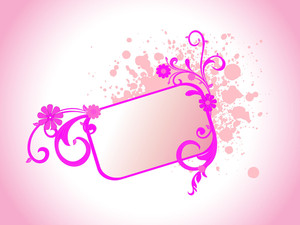 Background With Grungy Floral Frame