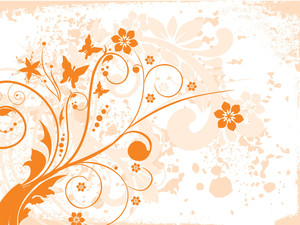 Background With Grungy Floral