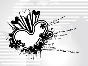 Background With Grungy Heart