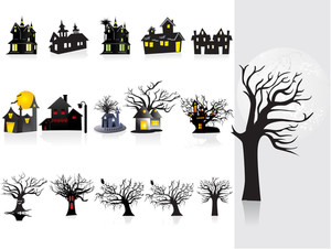 Background With Halloween House