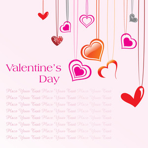 Background With Hanging Heart