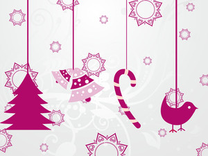 Background With Hanging Xmas Icons