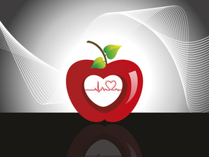 Background With Heartbeat In Apple