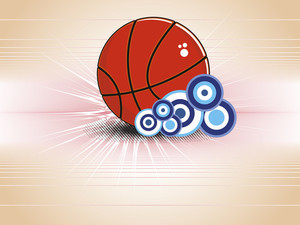 Background With Isolated Basketball