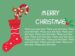 Background With Isolated Christmas Shocks
