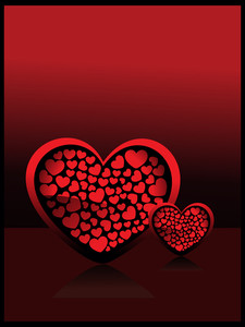 Background With Isolated Decorated Heart