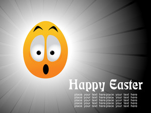 Background With Isolated Egg