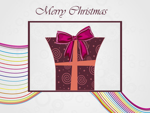 Background With Isolated Gift Box